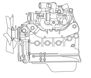 Nissan K21 engine drawing icon