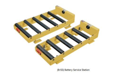 Battery roller tray