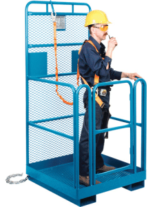 Lanyard Harness on Platform with man
